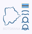 Colors of Botswana vector image