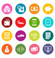 credit icons many colors set vector image