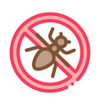 crossed mosquito icon outline vector image vector image