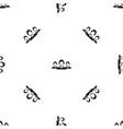 customer support operators pattern seamless black vector image vector image