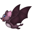 Cute Cartoon bat flying vector image