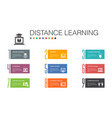 distance learning infographic 10 option line vector image