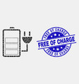 dotted charge battery icon and distress vector image vector image