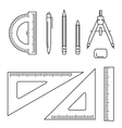 drawing instrument vector image vector image