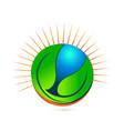 environmental friendly earth icon vector image