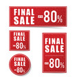 final sale advertising set vector image vector image