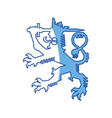 finland animal symbol vector image