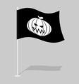 Flag Halloween Traditional holiday growing flag vector image vector image