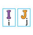 flash card alphabet colored alphabet