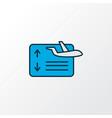 flight board icon colored line symbol premium vector image