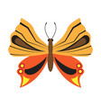 flying butterfly icon vector image vector image