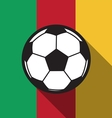football icon with Cameroon flag vector image vector image