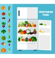 Fruits and vegetables background vector image vector image