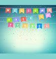 garlands festive flags banner back to school