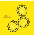 Gears symbol and Bulb light vector image vector image