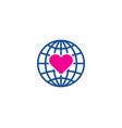 globe love logo icon design vector image