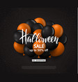 halloween sale background with balloons modern vector image vector image