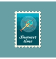 Helicopter stamp Summer Vacation vector image vector image