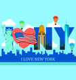 i love new york poster vector image vector image