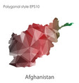 isolated icon afghanistan map polygonal vector image vector image