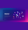 isometric crowd of people protesters male and vector image vector image
