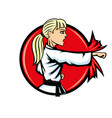 karate woman sports sign vector image vector image