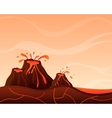 Landscape with volcano vector image vector image