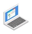 Laptop isometric 3d icon vector image