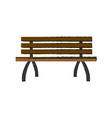 Lonely brench furniture wooden image