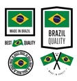 Made in Brazil label set vector image