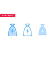 money icon in line outline filled outline and vector image