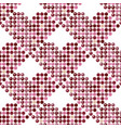 mosaic seamless pattern with hearts vector image