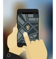 Navigation app mockup vector image vector image