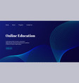 online education landing page template vector image