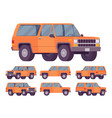 orange offroad set vector image vector image