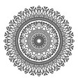 Ornament black white card with mandala Ornamental vector image