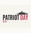 patriot day design template usa remembrance day vector image vector image