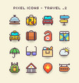pixel icons-travel 2 vector image vector image