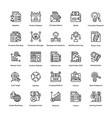 project management line icons set 20 vector image vector image