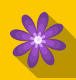 purple flower icon flat style vector image