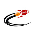 rugby speed swoosh vector image