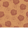 Seamless brown floral pattern with chocolate roses vector image vector image