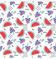 seamless fruits pattern vector image vector image