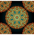 Seamless mandala over black background Vitage vector image