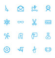 set of 16 editable education outline icons vector image vector image