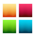 set of gorizontal seamless halftone patterns vector image vector image
