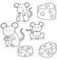 set of mouse vector image vector image