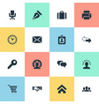set simple commerce icons vector image
