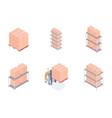 set warehouse units vector image