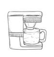 sketch hand drawn of kitchen utensils vector image vector image